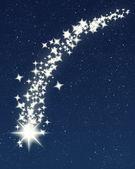 Shiny shooting star — Stock Vector