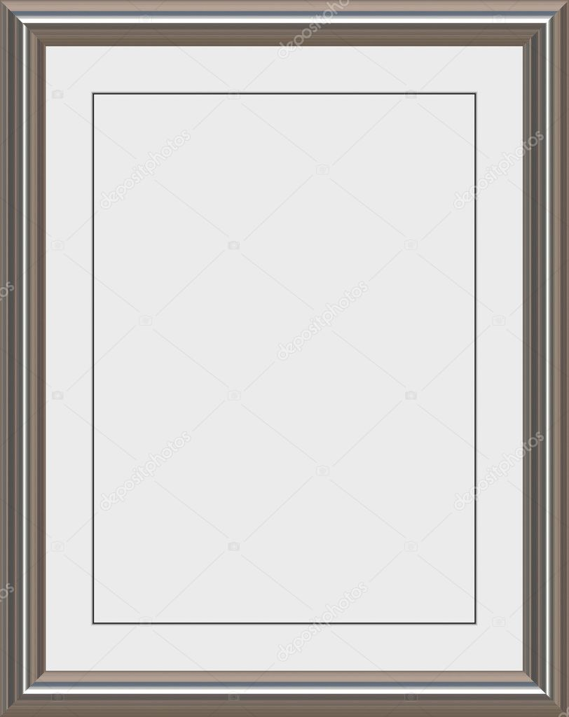 shiny metal frame with white matte for certificates awards or photos vector by clearviewstock
