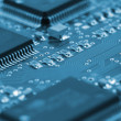 Chips on circuit board — Stock Photo #3043556