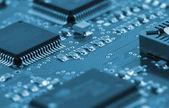 Chips de la placa de circuito — Foto de Stock