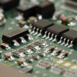 Chips on circuit board — Stock Photo #3051237