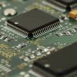 Chips on circuit board - Stockfoto