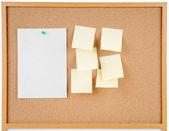 Notes on corkboard — Stock Photo