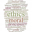 Ethics and principles word cloud — Stock Photo