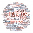 Internet webpage tag cloud - Stock Photo