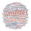 internet webpage tag cloud — Stock Photo