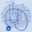 Stethoscope and health wordcloud — 图库照片 #3192967