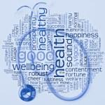 Stethoskop und Gesundheit wordcloud — Stockfoto