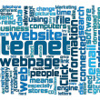 Royalty-Free Stock Photo: Internet webpage tag cloud
