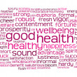 Good health word or tag cloud — Stock fotografie