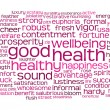 Good health word or tag cloud — ストック写真