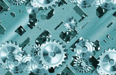 Cogs and clockwork machinery — Foto Stock