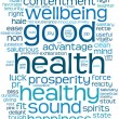 Stock Photo: Good health word or tag cloud