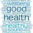 Good health word or tag cloud — Stockfoto