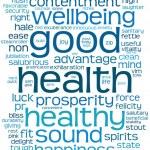 gute Gesundheit-Wort oder Tag-cloud — Stockfoto