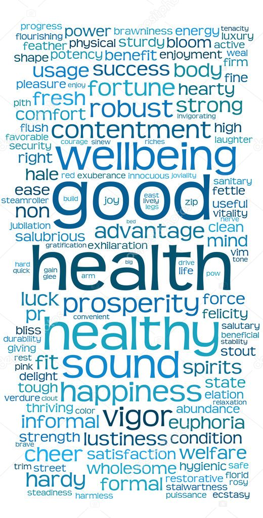 Good health word or tag cloud on white — Stock Photo #3337094