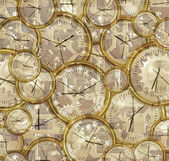 Time passing clocks and gears — Stock Photo