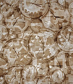 Time gone by clocks and clockwork — Stock Photo