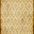 Old brown damask paper - Stock Photo
