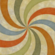 Sixties style grungy sunburst swirl — Photo