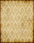 Old brown damask paper — Stock Photo
