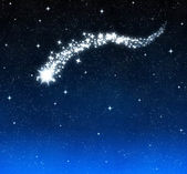 Shooting star burns bright in sky — Stock Photo