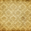 Old damask wallpaper - Stock Photo
