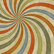 Sixties style grungy sunburst swirl — Stock Photo