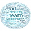 Health and wellbeing tag or word cloud — Stock Photo #3600948
