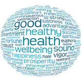 Health and wellbeing tag or word cloud — Stock Photo