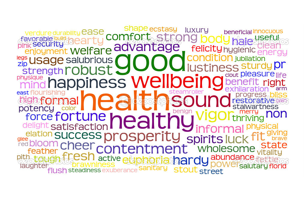 Good health and wellbeing tag or word cloud — Stock Photo #3600951