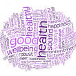 Good health and wellbeing tag cloud — Stockfoto #3646565