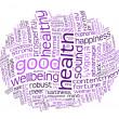 gute Gesundheit und Wohlbefinden-Tag-cloud — Stockfoto