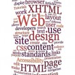 Website web design word cloud - Foto Stock