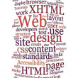 Website web design word cloud — Stock Photo