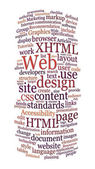 Website web design word cloud — ストック写真