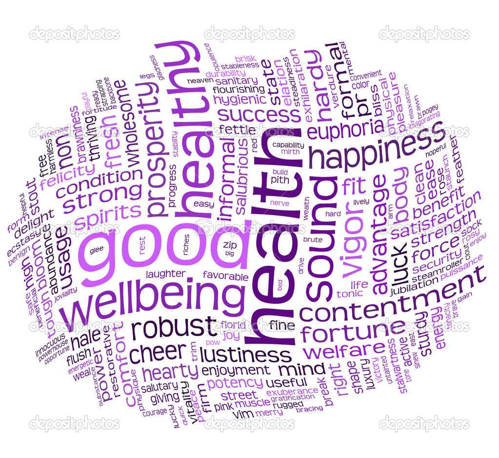 Good health and wellbeing tag or word cloud — Stock Photo #3646565