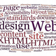 Foto Stock: Web design word cloud