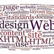 Web design word cloud — 图库照片