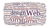 Web design word cloud — Stock Photo