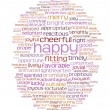 Happy cheerful word cloud — Stock Photo #3786774
