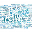 Good health and wellbeing tag cloud — Stock Photo
