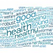 Good health and wellbeing tag cloud — Stock fotografie