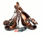 上高跟鞋女式皮鞋 — 图库照片