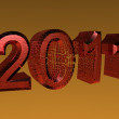 3D rendered 2011 new year logo — Stock Photo