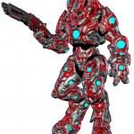 Scifi alien robot — Stock Photo