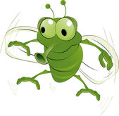 Green an insect — Stock Vector