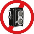 Sign stop photographing — Stock Vector