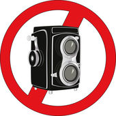 Sign stop photographing — Stockvector