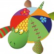 Toy turtle — Stock Vector